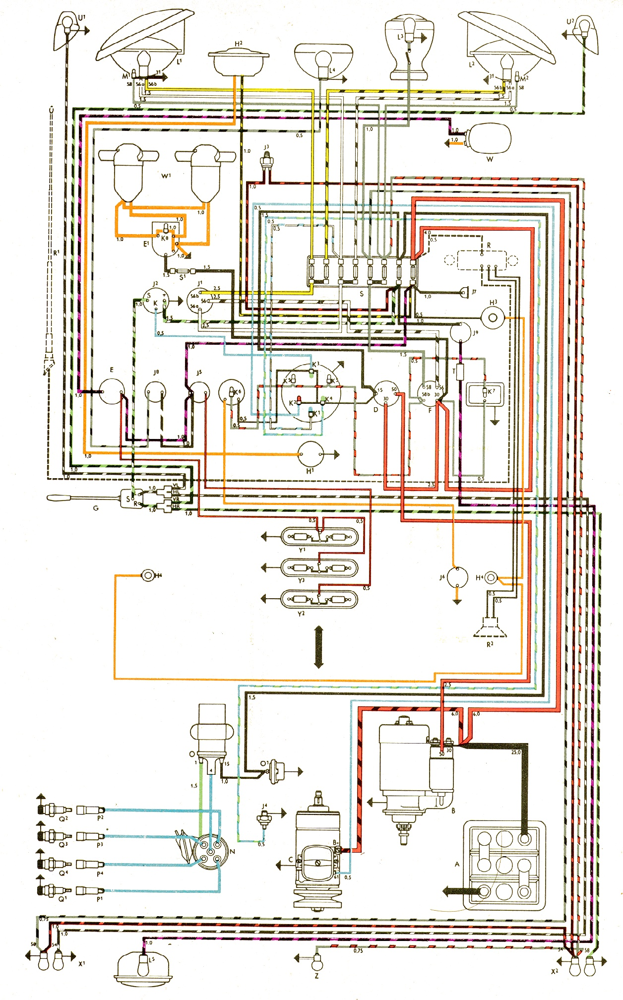 vw bug wiring diagram image wiring diagram 1967 vw bus wiring harness jodebal com on 1967 vw bug wiring diagram